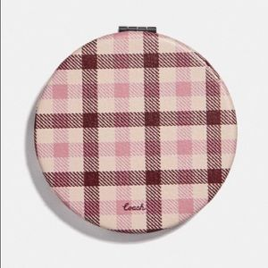 **LAST ONE** Coach Compact Mirror - Gingham